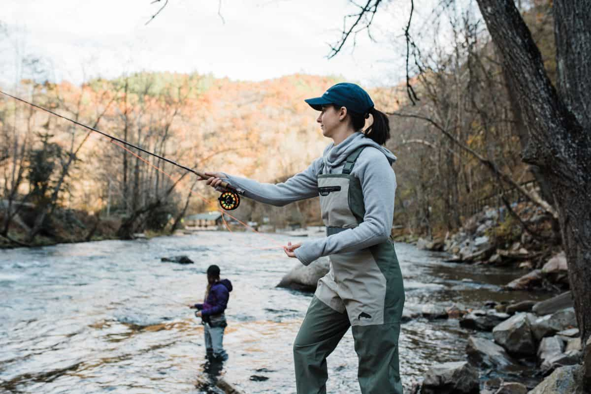 Cold weather fly fishing